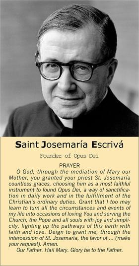 Prayer to Saint Josemaría